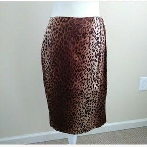 Gorgeus Vintage Animal Leopard print skirt